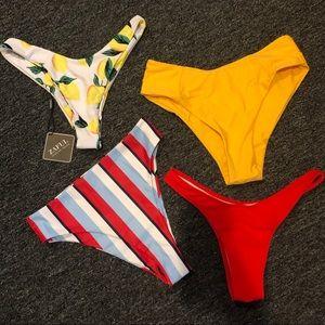 Zaful set of 4 bikini bottoms